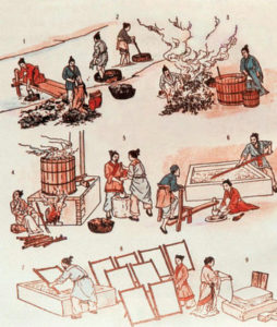 Paper making process in Ancient Times
